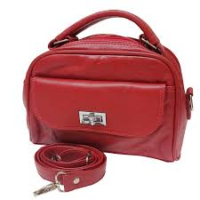 red leather womens shoulder purse bag