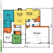 Fine Floor Plan Of A One Story House Plans Design In Models