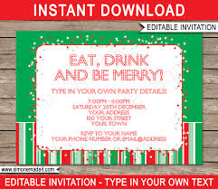 007 Template Ideas Christmas Red Green Party Invitations