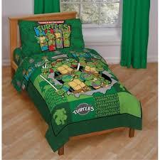 4pc teenage mutant ninja turtles green toddler bedding set tmnt comforter decor