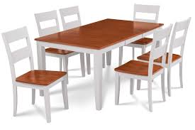 fullerton fold able table white cherry top