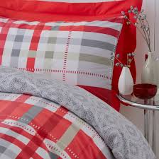 grey and red duvet covers