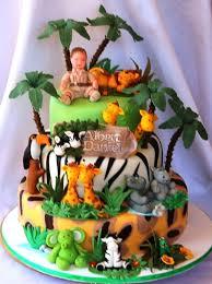 Animal Jungle Safari Theme Kids Birthday Party Cakes And Cupcakes