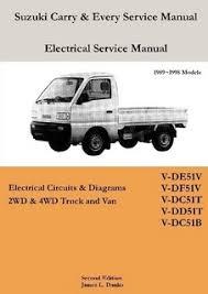 suzuki carry every van electrical diagrams by james danko shop