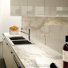 futuristic white marble kitchen worktops 9