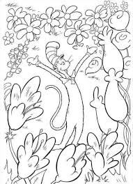 Dr Seuss Coloring Pages 3352 Cat