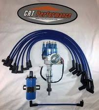 289 distributor small block ford 289 302 blue small hei distributor 45k coil plug wires