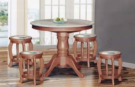 great dn888 round marble dining table 35ft 6 stools marble seat intended for marble round dining table prepare