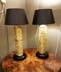 murano glass lamp pair of mid century modern gold lamps for at 3 shades uk