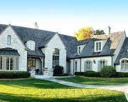 exteriorsfrench country exterior appealing. French Country Style Home Curb Appeal Facade Exterior Gray White Exteriorsfrench Appealing E
