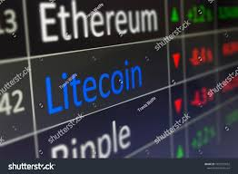 Litecoin Crypto Currency Trading Monitoring Ltc Stock Photo
