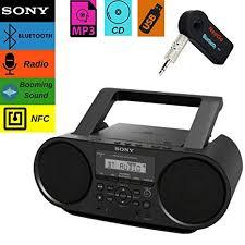 Sony Bluetooth Portable Cd Player Stereo Sound System Bundle/Digital Tuner AM/FM Radio Amazon.com: