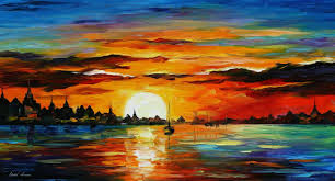 leonid afremov oil on canvas palette knife original paintings art