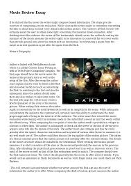 movie review essay jpg cb  movie review essay if he did not like the movie the writer might compose biased information