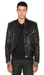 washed lamb leather motorcycle jacket