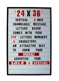 Changeable Letters Message Sign Menu Price Marquee Reader Board 24 ...