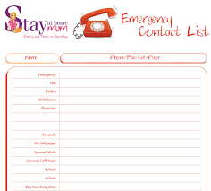emergency contact template emergency contact list tunnelvisie