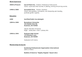 Resumes High School Activities Resume Template For College
