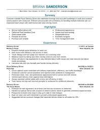 Resume Resume Sample For Driver
