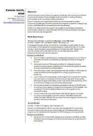 Example Of Social Worker Resume