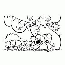 Nijntje Kleurplaat Miffy Coloring Pages Ballonnen Verjaardag Miffy