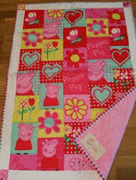 Peppa Pig for my granddaughter - all fabric came from Fabric.com ... & Peppa pig quilt Adamdwight.com