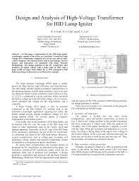 Pulse Transformer Design Pdf Pdf Design And Analysis Of High Voltage Transformer For Hid