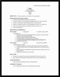Resume Examples Sample For Customer Service Representative