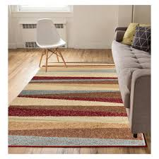 well woven miami aria hills modern stripe multi 8 ft x 10 ft area rug 84027 the home depot