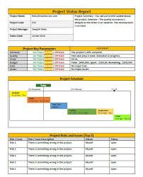 Reporting Formats In Word Project Status Report Template Word Template Free It Project
