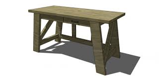 Free and Easy DIY Furniture Plans to Build a PotteryBarn Inspired Small  Hendrix Desk