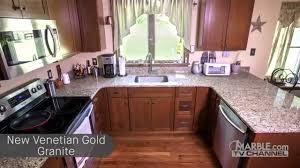 Venetian Gold Granite Kitchen New Venetian Gold Countertops Youtube