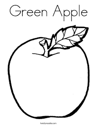 apple coloring page. Wonderful Page Green Apple Coloring Page To