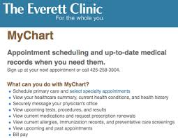 Www Everettclinic Com Mychart Mychart Everett Clinic