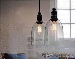 bell jar pendant light modern crystal bell glass pendant lights glass hanging light foyer in a