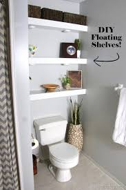 DIY Floating Shelves in Bathroom above toilet {Reality Daydream}