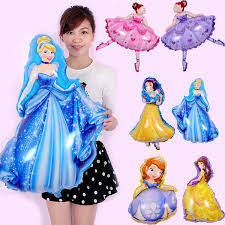 103*93cm pink blue <b>helium balloon princess</b> crown <b>foil balloons</b> for ...