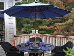 dark brown rectangle patio umbrella with solar lights for