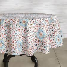 iznik oilcloth outdoor round tablecloth