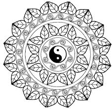 Small Picture Mandala yin yang Mandalas Coloring pages for adults JustColor