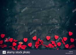 Lots Of Little Red Hearts On Black Background Romantic Love