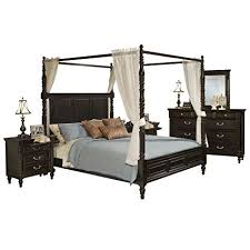 Amazon.com: Marseille 6 Piece Canopy E King Bed, 2 Nightstand ...