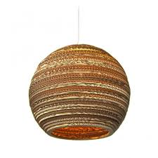 moon recycled cardboard ceiling pendant