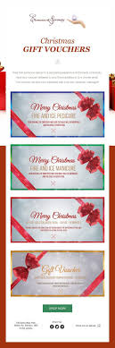 beste idee euml n over gift voucher design op coupon email campaign for christmas gift vouchers designed for a days spa and beauty salon