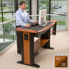 standing computer desk. Perfect Desk Natural Cherry With Drawers On Standing Computer Desk