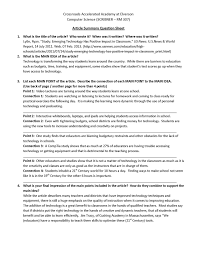 Collegium Charter School Technology Blog Mla Format Template Day