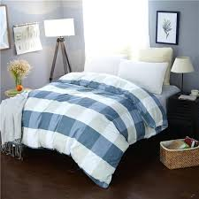 small fresh light blue plaid pattern duvet cover 4 size quilt case red covers bedspread from sailboat printed reversible teens bed cover