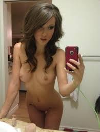 Hot Brunette Girls Selfie Nude