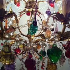 murano chandelier with fruit