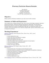 Pharmacy Resume Example Examples Of Resumes